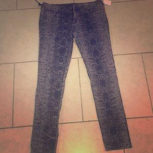 Mavi snake skin print skinny jeans